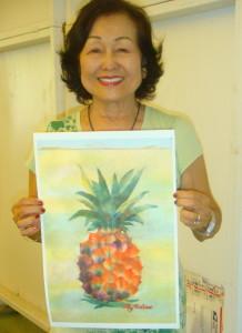 Lily with Pineapple chigiri-e